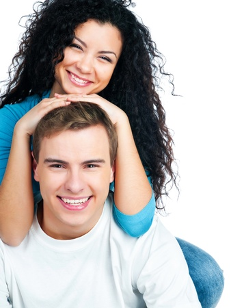 beautiful young couple in love Stock Photo - 8908006
