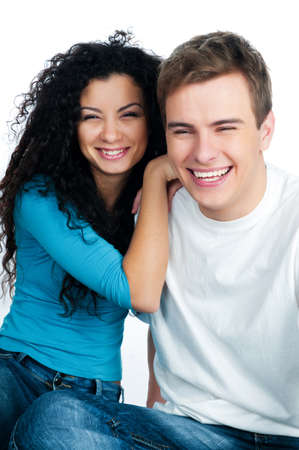 beautiful young couple in love Stock Photo - 8908959