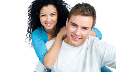 beautiful young couple in love Stock Photo - 8907330