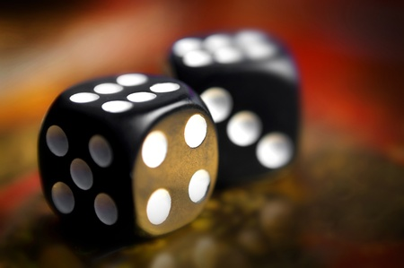 dice on a soft background color photo