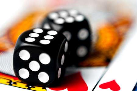 dice on a card  photo