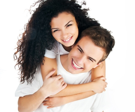 boyfriend: hermosa joven pareja de enamorados