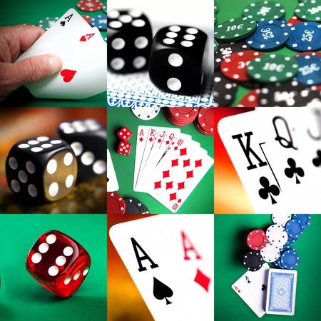 ensemble de différentes actions et scènes en casino Banque d'images - 9003516