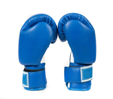 combative sport: Boxing gloves on a white background close up Stock Photo