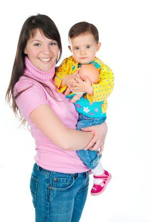 adultbaby: MOM h�lt ein kleines Kind in den Armen Lizenzfreie Bilder
