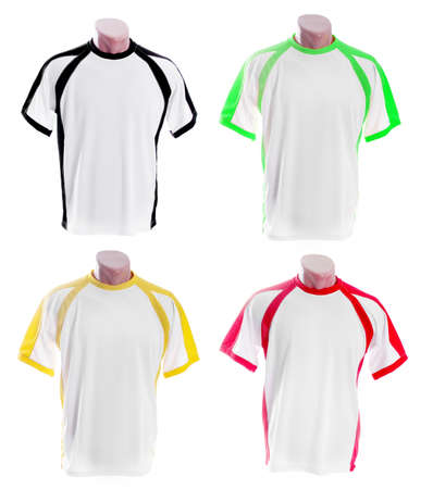 set of t-shirts isolated on a white background Stock Photo - 9782752