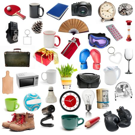 set of different  isolatad objects on a white background photo