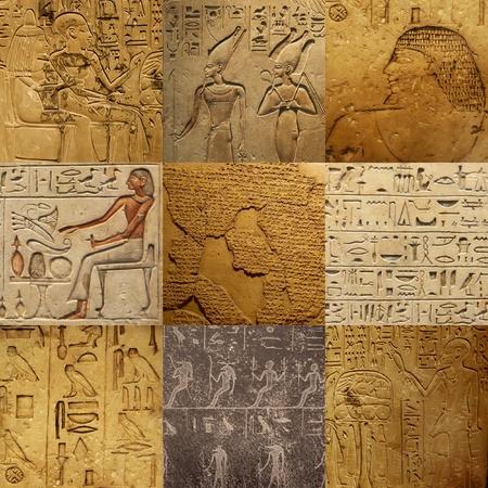 louxor: mis de l'�criture �gyptienne ancienne sur la pierre Banque d'images