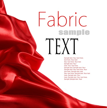 tissu soie: tissu de satin rouge avec place pour votre texte Banque d'images