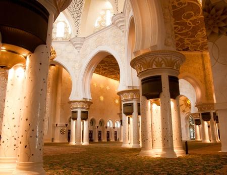 electrolier: Sheikh Zayed mosque in Abu Dhabi inside