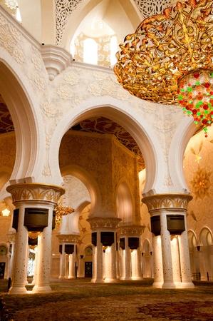 mezquita: Mezquita Sheikh Zayed, en Abu Dhabi en el interior