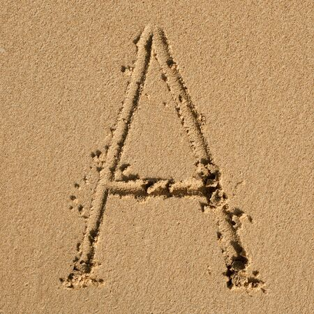 alphabetic: English alphabet in the sand