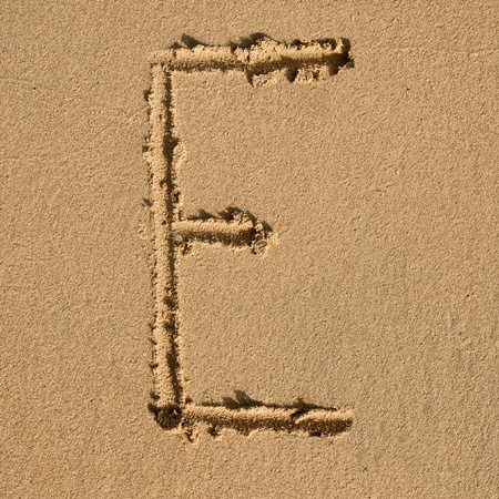 English alphabet in the sand Stock Photo - 12469671