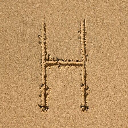 English alphabet in the sand Stock Photo - 12469603