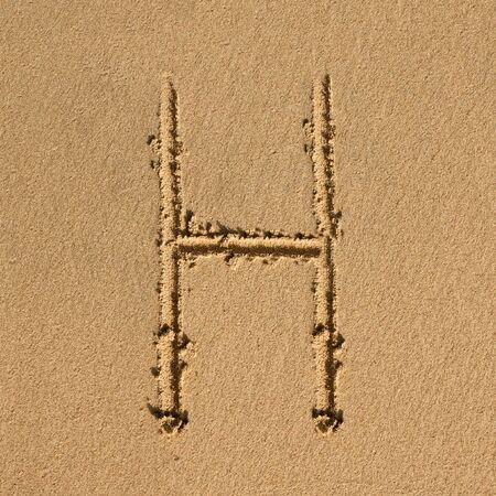 English alphabet in the sand Stock Photo - 12469603