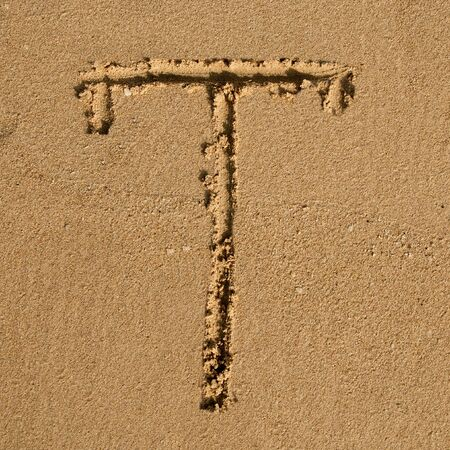 English alphabet in the sand Stock Photo - 12469656