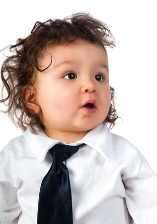 small child dressed in a business Stock Photo - 13028500