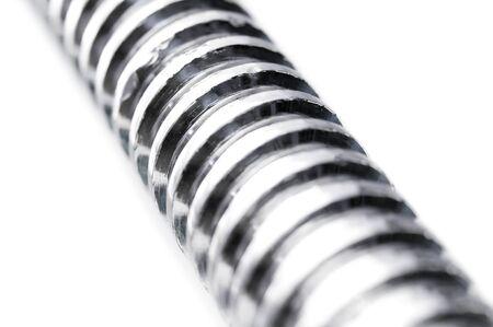 steel head: metal thread on a white background
