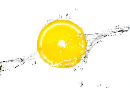 orange splash: orange splash into fresh water