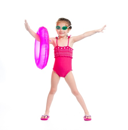 cute little girl in swimming suit photo