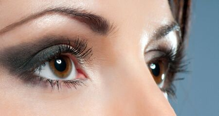 Beautiful woman eyes close-up with make up Stock Photo - 14463451