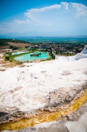 pamuk: beautiful scenery of Pamukkale in Turkey Stock Photo