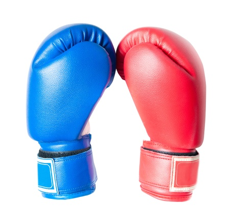 red gloves: Boxing gloves isolated on white background