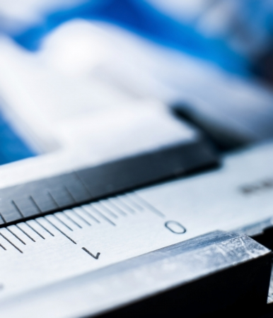 backgruond: Silver trammel on blur blue backgruond Stock Photo