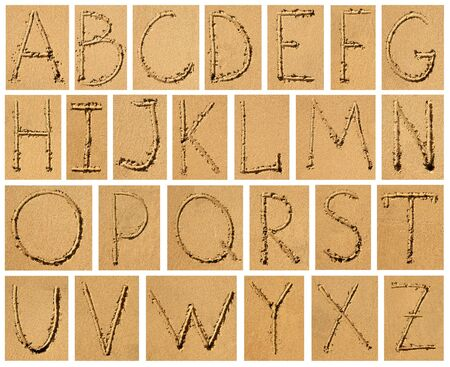 set of sandy bright alphabet photo