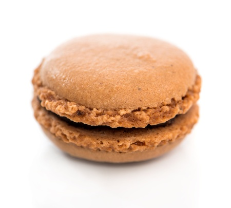chocolate cookies macaroon isolated on a white background photo