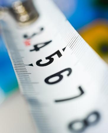 yardstick: yardstick close up on a blur background