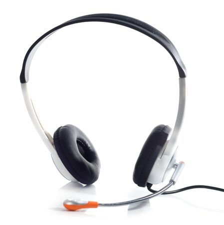 headset isolated on a white background photo