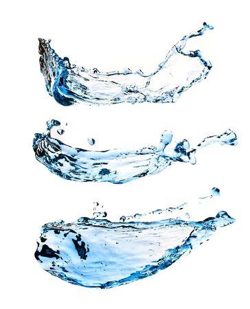 capricious: Set of water splashes isolated on white