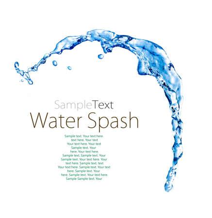 blue splash close up shoot isolated on a white background Stock Photo - 18862482