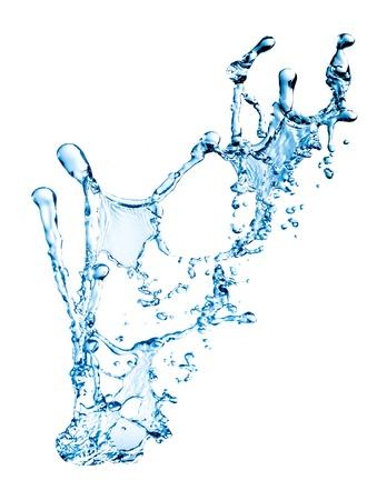 blue splash close up shoot isolated on a white background Stock Photo