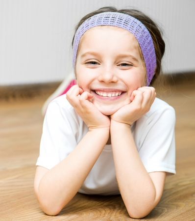 Portrait of cute smiling beautiful little girl