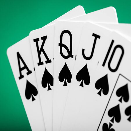 Royal flash on a green table casino photo