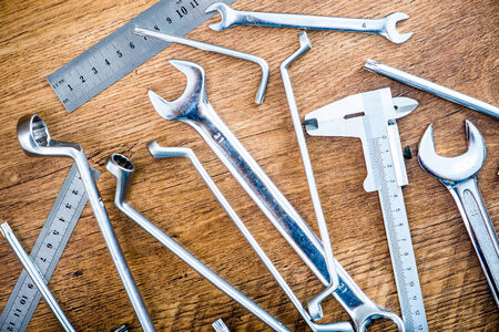 set of wrenches and other tools photo