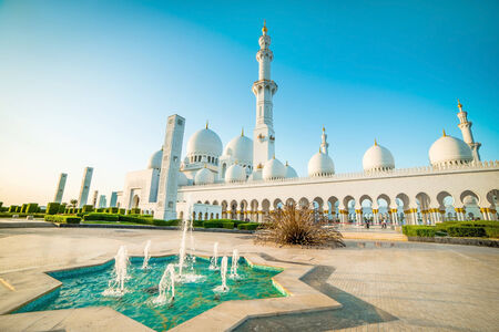 abudhabi: Sheikh Zayed Grand Mosque in Abu-Dhabi, UAE Stock Photo