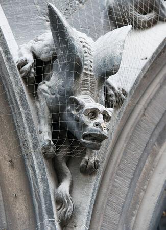 gargoyle: Gothic gargoyle on New Town Hall  Munich, Germany   Stock Photo