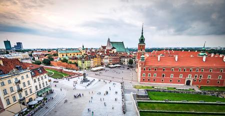 Plac Zamkowy in Warsaw old town, Poland photo