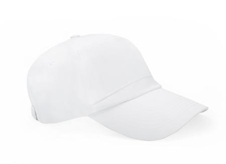 baseball cap: White Baseball Cap isolated on white Stock Photo