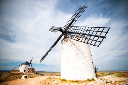 don: traditional windmills in Consuegra, Toledo, Spain