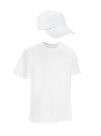 Sammlung Von Verschiedenen Weißen T-Shirt Und Baseball-Kappe Vorlage ...