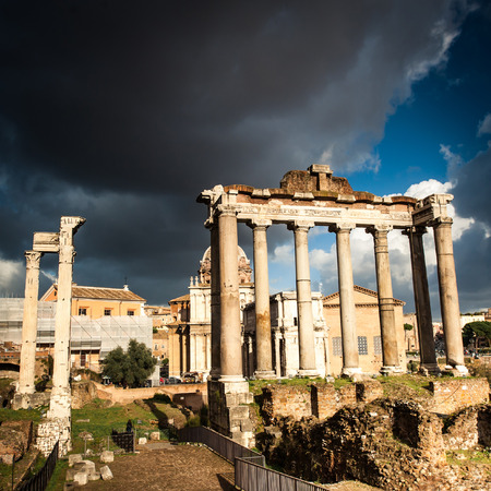roman column: Roman Forum in Rome, Italy