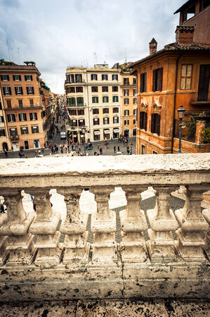 Rome, Italy - November 17, 2014: Piazza di Spagna, is one of the most famous squares of Rome. It owes its name to the palace of Spain, Embassy of the Iberian is here