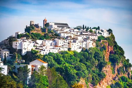 andalusia: White houses of Competa in Andalusia, Spain.