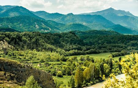 abruzzo: beautiful mountain views in cool colors