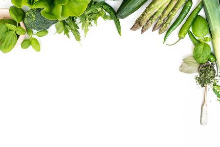 Vegetables on a white background Фото со стока