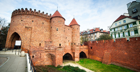outpost: Barbican fortress in the historic center of Warsaw